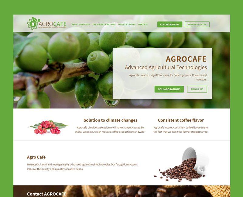 מיתוג מחדש והקמת אתר תדמית ל AgroCafe