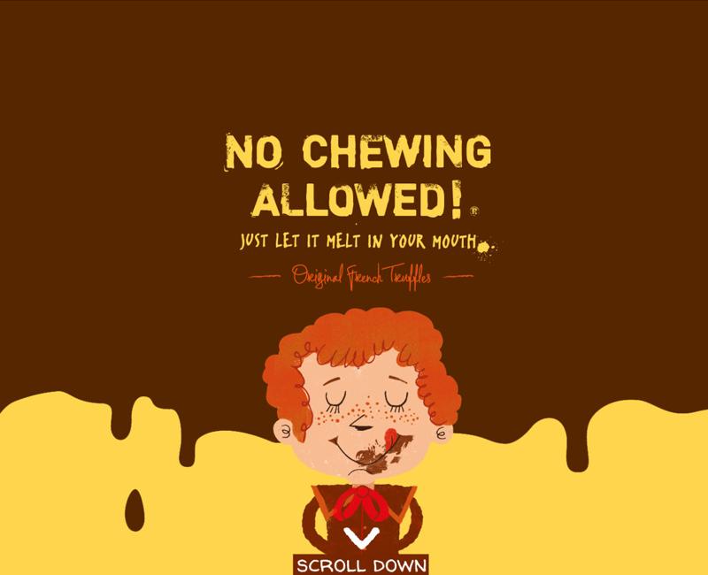 עיצוב והקמת אתר תדמית ל no chewing allowed