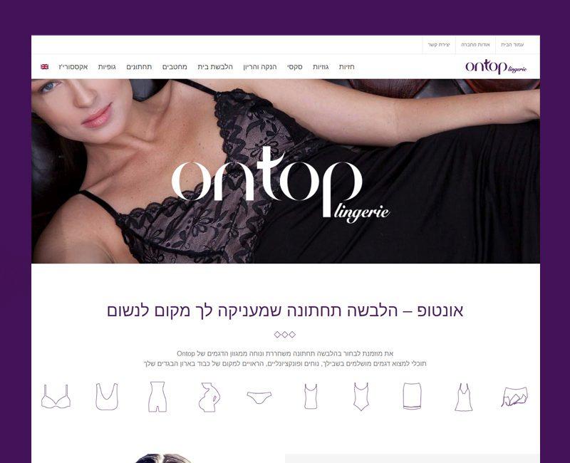 עיצוב אתר קטלוג לאונטופ