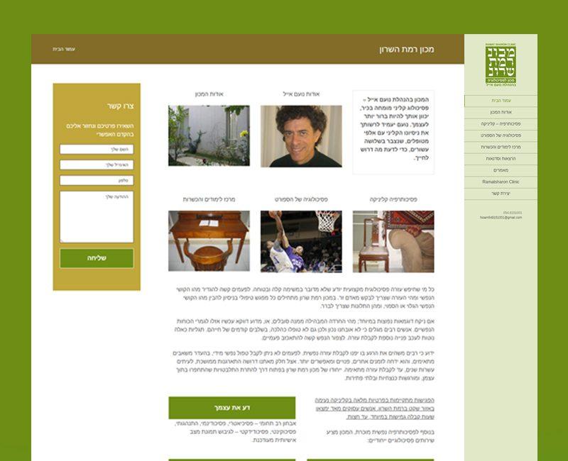 עיצוב והקמת אתר תדמית לנועם אייל