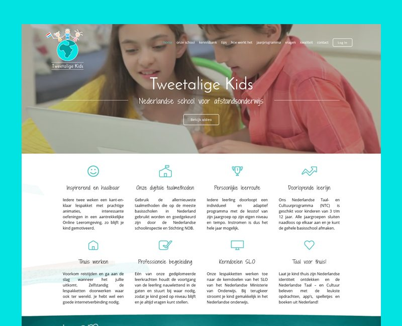 הקמת אתר ל Tweetalige Kids